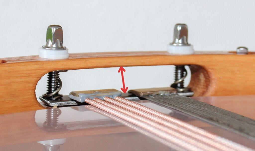bild 2: genug spielraum für die teppiche zwischen holzreifenschlitz-oberkante